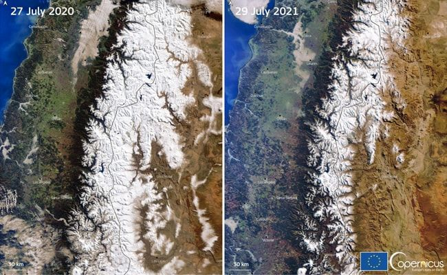 'Mega-Drought' In Andes From Climate Change Leaves Some Peaks Snowless