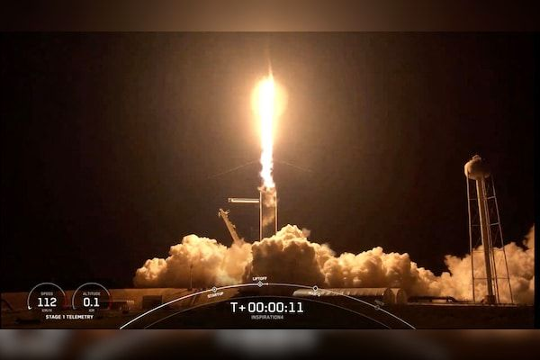 First All-Civilian Crew Bound For Orbit Launches Aboard SpaceX Rocket Ship