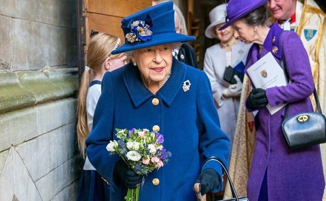 Queen Elizabeth II Photographed During Rare Outing With Walking Stick