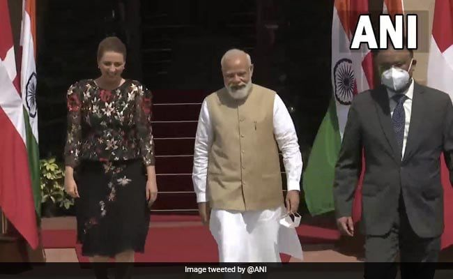 PM Modi Meets Danish Counterpart On Her First State Visit To India