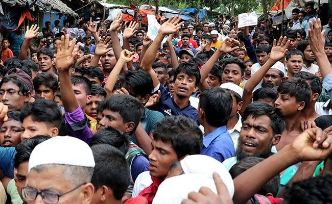 Rohingyas Stage Protest Against Living Conditions On Bangladesh Island