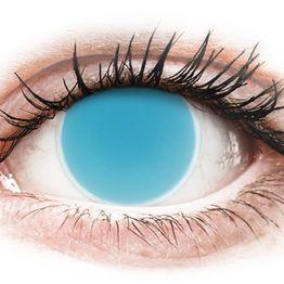 ColourVUE Crazy Glow Electric Blue - Μη διοπτρικοί Ετήσιοι φακοί επαφής (2 φακοί)
