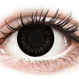 ColourVUE BigEyes Dolly Black - Μη διοπτρικοί Τριμηνιαίο φακοί επαφής (2 φακοί)