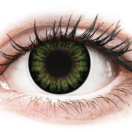 ColourVUE BigEyes Party Green - Μη διοπτρικοί Τριμηνιαίο φακοί επαφής (2 φακοί)
