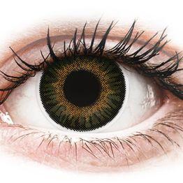 ColourVUE 3 Tones Green - Μη διοπτρικοί Τριμηνιαίο φακοί επαφής (2 φακοί)