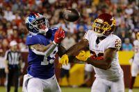Giants' OC Jason Garrett downplays sideline incident with Kenny Golladay