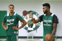 Jayson Tatum and Jaylen Brown look to become better playmakers next season