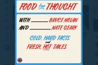 """""""Food for Thought"""" with Nate Geary and Bruce Nolan Friday @ 9 PM EDT!"""