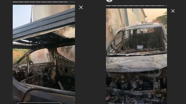 6 Moments of the Alphard Via Vallen Car Burned Next to the House, Burned by an Unknown Person