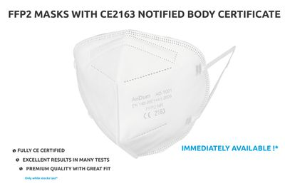 FFP2 respirator protective face mask with CE 2163 full certification