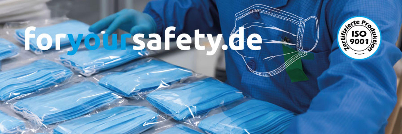 FFP2 & KN95 zertifiziert & TÜV geprüft MNS Mund-Nasen-Schutz Masken online bei foryoursafety.de kaufen