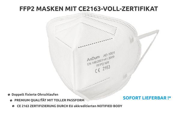 FFP2 Maske kaufen / Atemschutzmaske FFP2 mit CE 2163 zertifiziert  & PALAS Test