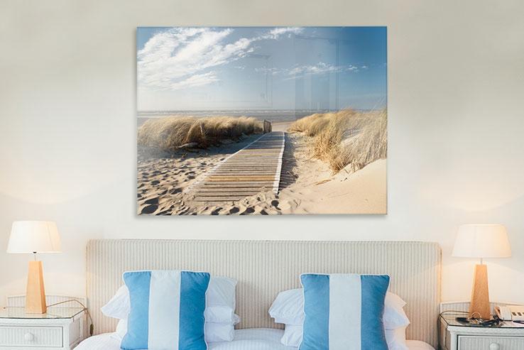 Glasbilder Strand