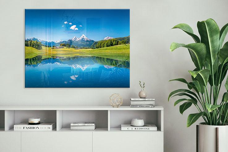 Glasbilder Landschaft