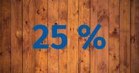 Zahl des Monats Oktober: 25 Prozent