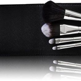 Gabriella Salvete TOOLS Travel Set Of Brushes Brush 1pc Combo: Powder Brush 1 Pc + Blush Brush 1 Pc + Eye Shadow Brush 1 Pc + Lip Stick Brush 1 Pc+ Case