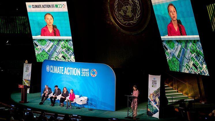 Грета Тунберг на Саміті ООН з питань клімату