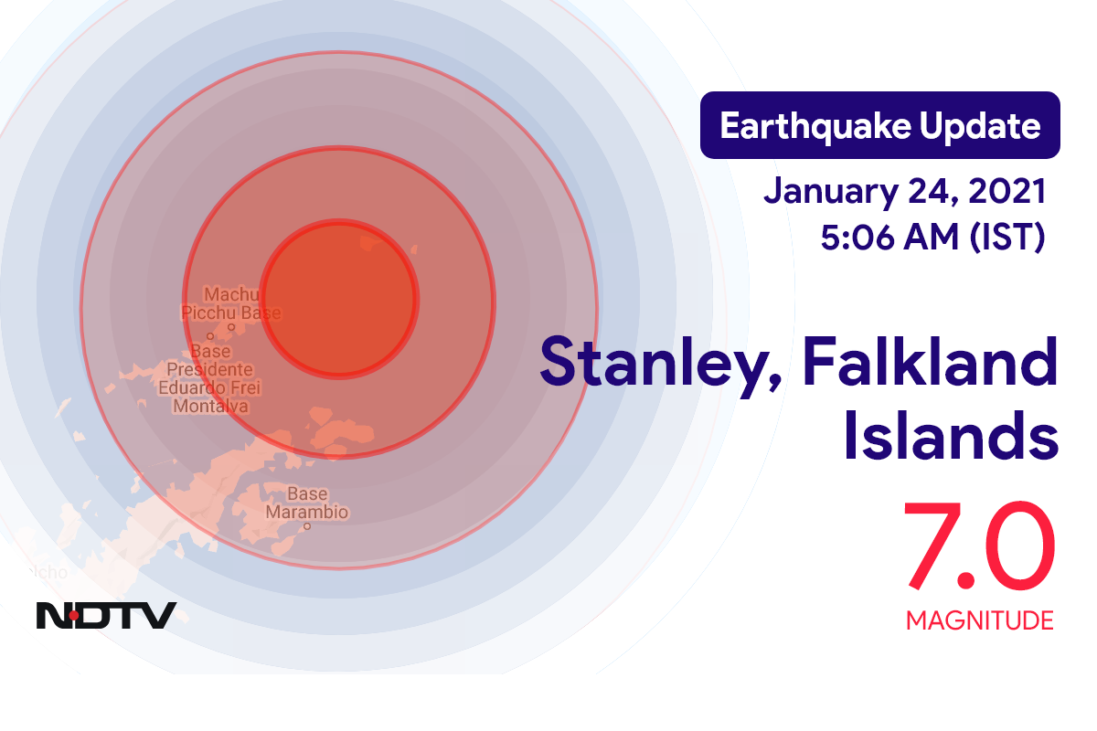 Earthquake With Magnitude 7 Strikes Near Stanley, Falkland Islands