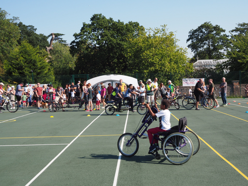 try a bike event at palmers green festival
