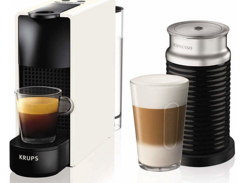 KRUPS Nespresso® Essenza Mini white μαζί με Aeroccino