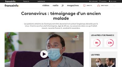 Screenshot of France info website about Alexandre Zapolsky's COVID19