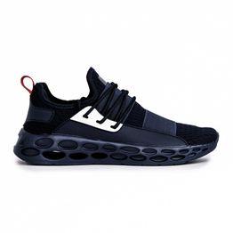 Ανδρικά γαλάζια αθλητικά παπούτσια κάλτσα με λάστιχο
