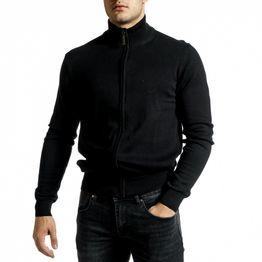 Ανδρικό μαύρο πουλόβερ Code Casual
