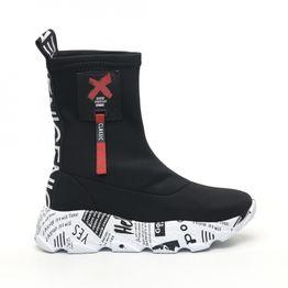 Γυναικεία μαύρα ψηλά sneakers Inizio