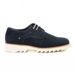 Casual ανδρικά μπλε σουέτ παπούτσια