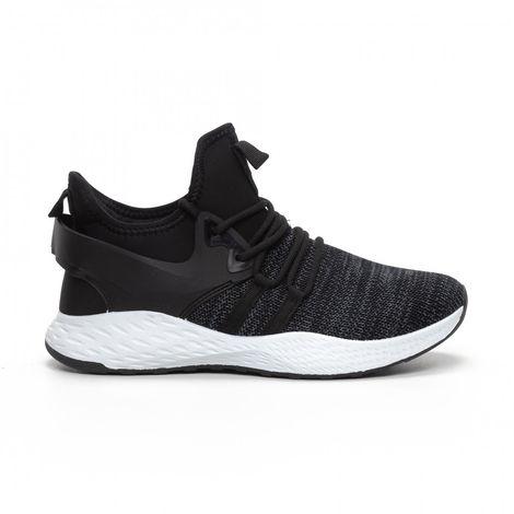 Ανδρικά μαύρα μελάνζ αθλητικά παπούτσια με νεοπρέν