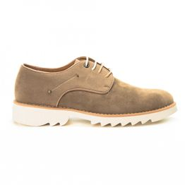 Casual ανδρικά μπεζ σουέτ παπούτσια