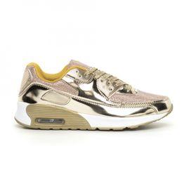 Ανδρικά χρυσά αθλητικά παπούτσια με αερόσολα