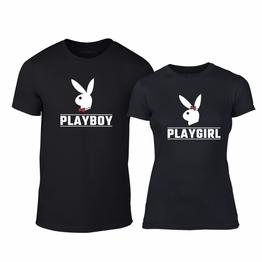 Μπλουζες για ζευγάρια Playboy μαύρο
