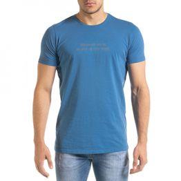 Ανδρική γαλάζια κοντομάνικη μπλούζα Lagos