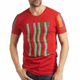 Ανδρική κόκκινη κοντομάνικη μπλούζα MTV Life