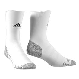 adidas Performance - Ανδρικές κάλτσες adidas Alphaskin Traxion Ultralight Crew λευκές