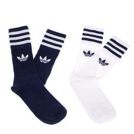 ADIDAS - Σετ κάλτσες SOLID CREW 2PP μπλε-λευκές