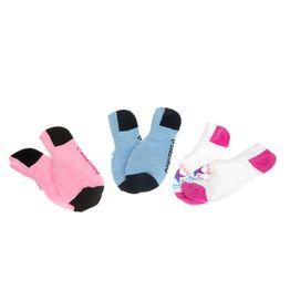 CONVERSE - Σετ γυναικείες κάλτσες Converse λευκές-ροζ-γαλάζιες