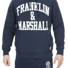 FRANKLIN & MARSHALL - Ανδρική φούτερ μπλούζα FRANKLIN & MARSHALL BRUSHED COTTON FLEE μπλε