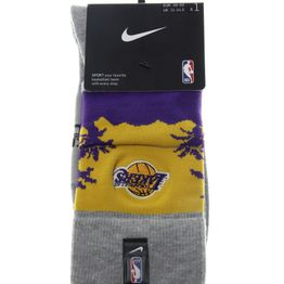 NIKE - Unisex κάλτσες basketball NIKE LAL U NK CREW - NBA CTS γκρι μοβ