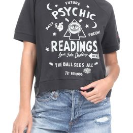 SUPERDRY - Γυναικεία cropped φούτερ μπλούζα SUPERDRY WORKWEAR CROPPED SWEAT CREW γκρι