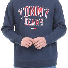 TOMMY HILFIGER - Ανδρική φούτερ μπλούζα TOMMY HILFIGER PLAID TOMMY GRAPHIC CREW μπλε