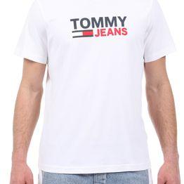 TOMMY HILFIGER - Ανδρικό t-shirt TOMMY HILFIGER CORP LOGO TEE λευκό