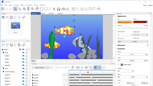 Screenshot for .net desktop app Aphalina Animator