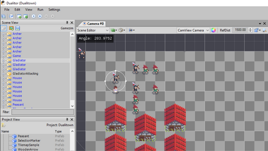 Screenshot for .net developer tool Duality 2D game engine