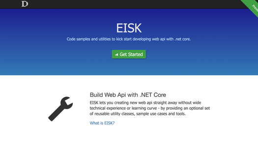 Screenshot for .net web app EISK