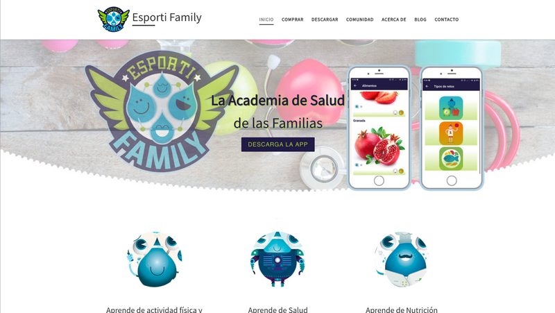 Screenshot for .net mobile app Esporti Family - Health Academy of the Families