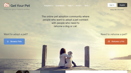 Screenshot for .net web app GetYourPet.com