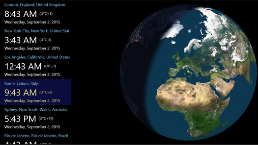 Screenshot for .net mobile app Globe Time