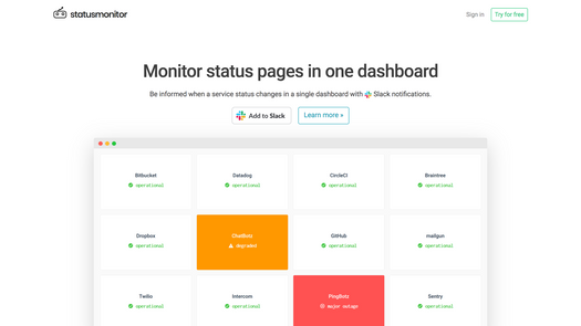 Screenshot for .net web app statusmonitor